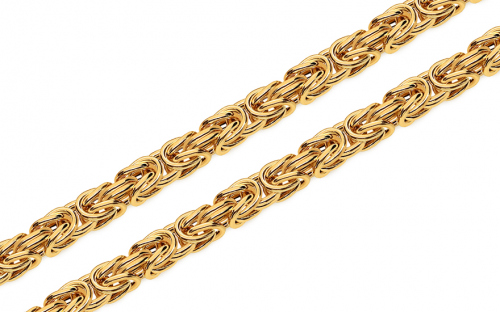 Catenina in oro motivo regale 7,5 mm - IZ6309