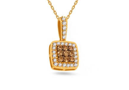 Pendente in oro con brillanti